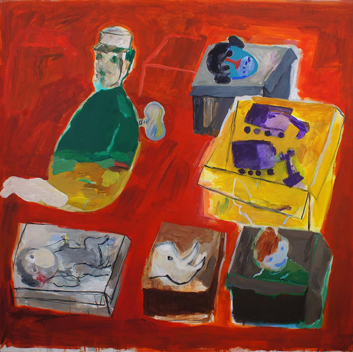 Yasser Safi acrilico su tela 150x150 - 2016 - Courtesy of Yasser Safi