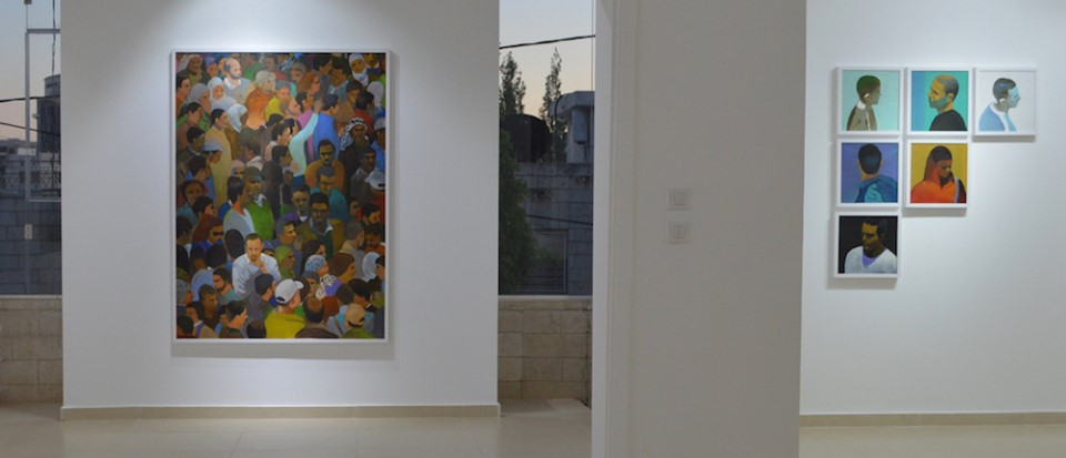 Dispersed Crowds exhibition by Khaled Hourani at Zawyeh Gallery. Courtesy of Zawyeh Gallery