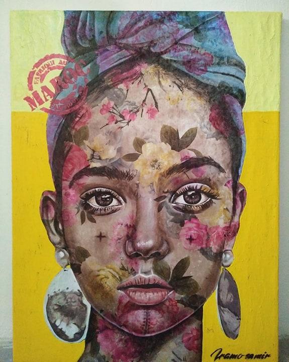 Iramo Samir, dalla serie Between thorns and roses, 2018, tecnica mista, 78x60 cm. Courtesy of Iramo Samir