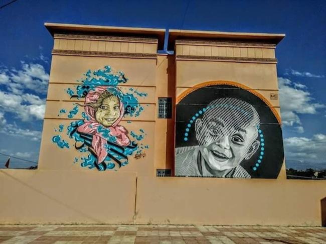 Murales a Lalla Takerkoust, 2017. Courtesy of Iramo Samir
