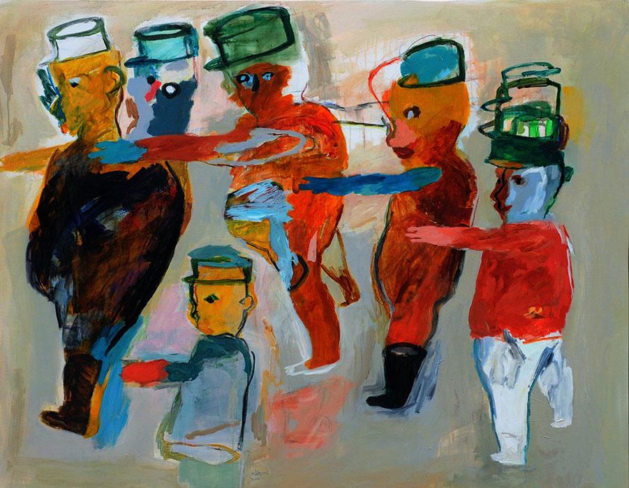 Yasser Safi, 2014, acrilico su tela, 130x165 cm. Courtesy of Yasser Safi
