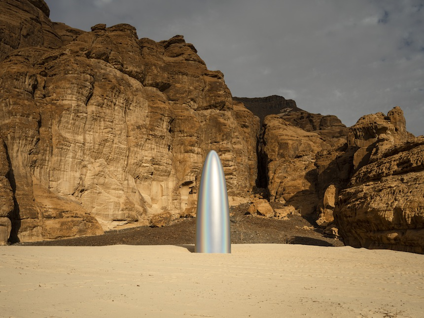Gisela Colon, The Future is Now, installation view at Desert X AlUla, photo by Lance Gerber, courtesy of the artist and Desert X AlUla